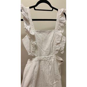 Madewell Dresses - Madewell Leilani Eyelet Apron Dress size 10
